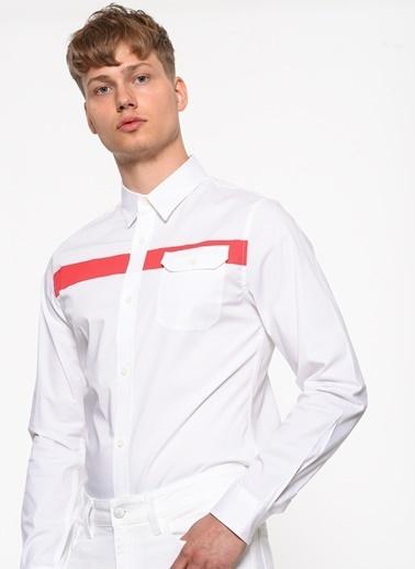 Calvin Klein Uzun Kollu Gömlek Beyaz